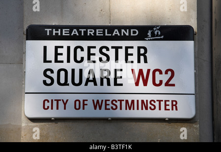 England, London, Leicester Square is in the heart of Theatreland in London's West End. - Stock Photo