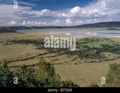 Tanzania, Northern Tanzania, The world famous Ngorongoro Crater was declared a World Heritage Site in 1978. Its - Stock Photo
