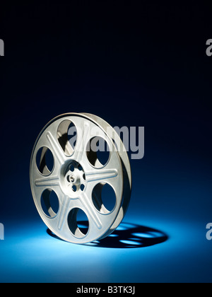 35mm Film reel vertical - Stock Photo