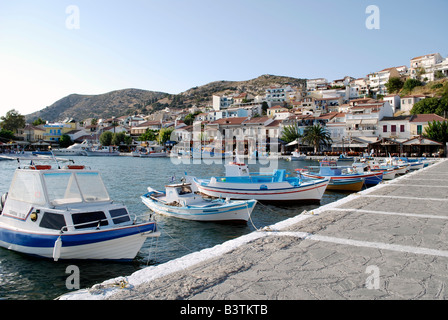 Port of Pythagorion, samos island greece 2008. - Stock Photo