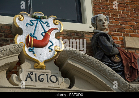 Europe, The Netherlands (aka Holland), West Friesland, Hoorn. Old woman's home, est. 1610. - Stock Photo