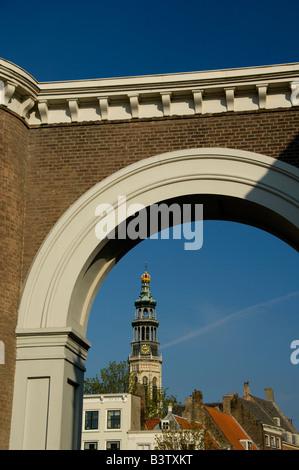 Europe, The Netherlands, Zeeland, Middelburg. Lange Jan part of Nieuwe Kerk. - Stock Photo