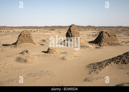 Royal cemetery of Nuri, Karima, Sudan - Stock Photo