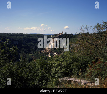 Rocamadour, Chateau Cite Religieuse, and village, Dordogne and Lot Region, France - Stock Photo