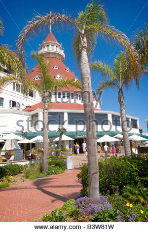Hotel Del Coronado Coronado Island California - Stock Photo