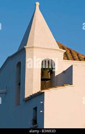 Bell tower of the church 'Chiesa del Soccorso' in the town of Forio d'Ischia on Ischia, Campania, Italy.. - Stock Photo