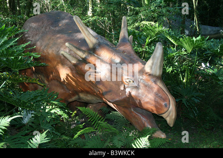 Styracosaurus  dinosaur at Dinosaur World, Plant City, FL. - Stock Photo