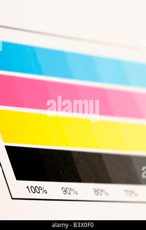 CMYK colour swatch - Stock Photo