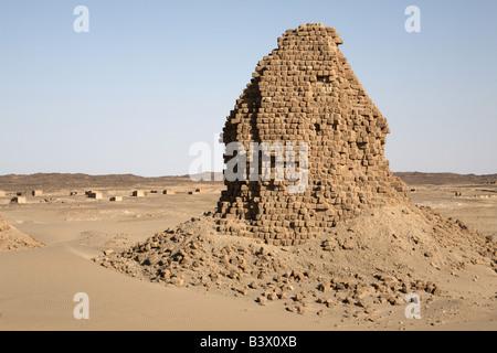 Royal cemetery of Nuri, Karima, Sudan - Stock Photo