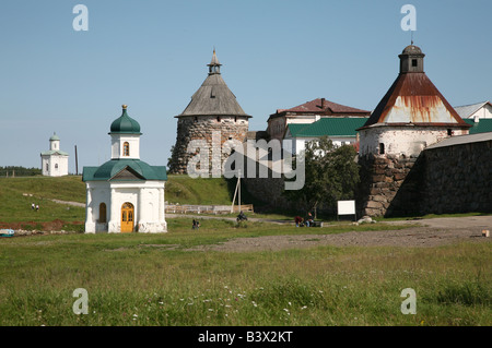 Solovetsky Monastery on the Solovetsky Islands in the White Sea, Russia - Stock Photo