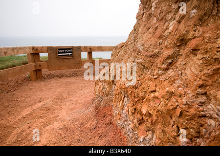 Comical Sign Reads 'View Point' Along Clifftop Walk. Giants Causeway, Northern Ireland - Stock Photo