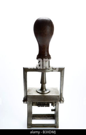 Studio Shot Of Old Fashioned Rubber Stamp - Stock Photo