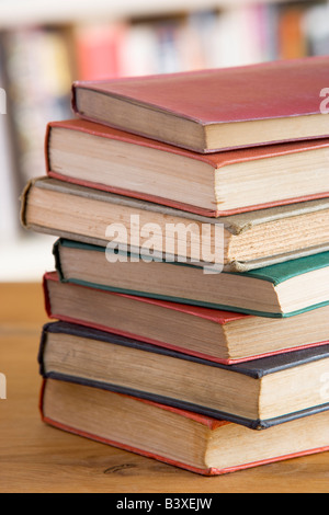 Stack Of Books On Table - Stock Photo