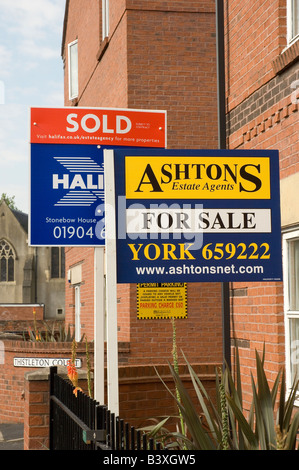 Residential property sign boards England UK United Kingdom GB Great Britain - Stock Photo