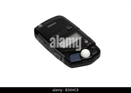 Sekonic L308 Hand held Photography Light meter set against a white background - Stock Photo