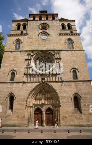 Cathedral Saint Etienne, Cahors, 46, Lot, Midi Pyrenees, South West, France, Europe - Stock Photo