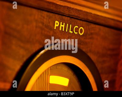 Old time Philco Radio - Stock Photo