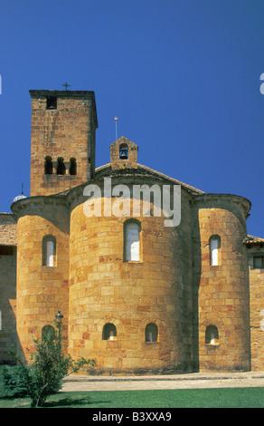 Church at Leyre Monastery in Sierra de Leyre Navarra Spain - Stock Photo