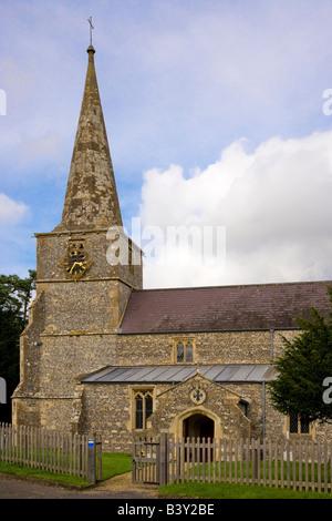 St.Michael's Church in Little Bedwyn,Wiltshire,England,UK - Stock Photo