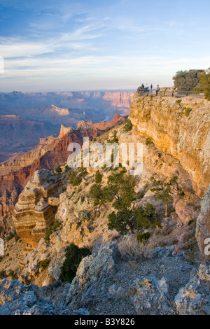 AZ, Arizona, Grand Canyon National Park, South Rim, viewing the canyon from Lipan Point, near sunset - Stock Photo