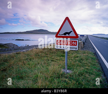 Scotland, Causeway from South Uist to Eriskay - Stock Photo
