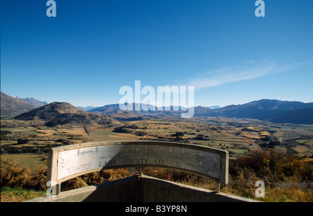 View point over Queenstown environs, South Island, New Zealand. - Stock Photo