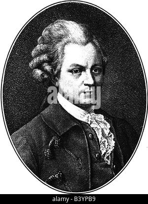 Lessing, Gotthold Ephraim, 22.1.1729 - 15.2.1781, German author / writer, portrait, Additional-Rights-Clearances - Stock Photo