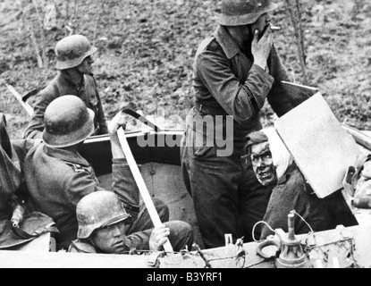 events, Second World War / WWII, Russia 1942 / 1943, soldiers of the Panzer Grenadier Division 'Grossdeutschland' - Stock Photo