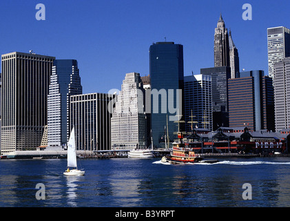 geography / travel, USA, New York, Manhattan, skyline, - Stock Photo