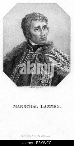 Lannes, Jean, 10.4.1769 - 31.5.1809, French general, portrait, engraving by Bollinger, 19th century, marshal of - Stock Photo