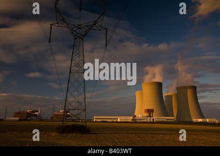 The Czech Temelin nuclear power plant - Stock Photo