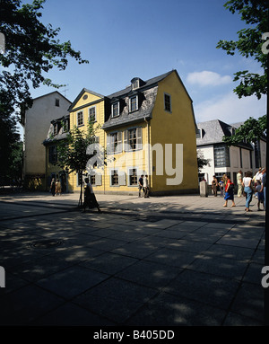 geography / travel, Germany, Thuringia, Weimar, building, architecture, Schiller's house, exterior view, UNESCO, World Heritage Site, Friedrich Schiller, Stock Photo