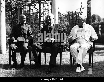 events, Second World War / WWII, conferences, Cairo Conference, 22.11.1943 - 26.11.1943, - Stock Photo
