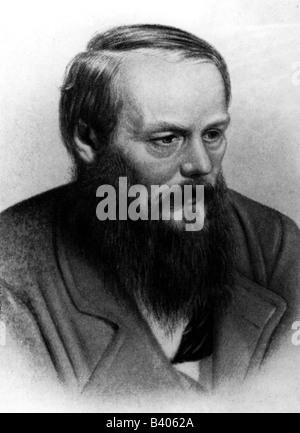 Dostoevsky, Fyodor Mikhailovich, 11.11.1821 - 9.2.1881, Russian writer, novelist, portrait, after collotype by A. - Stock Photo