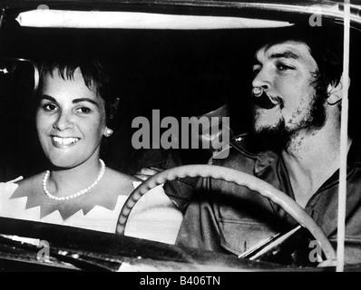 Guevara Serna, Ernesto 'Che', 14.5.1928 - 9.10.1967, Argentinian revolutionary, with wife Aleida March, honeymoon, in car, ,