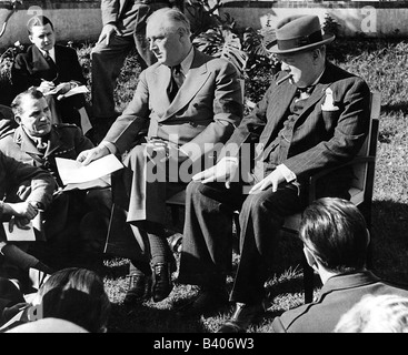 events, Second World War / WWII, conferences, Casablanca Conference, 14.1.1943 - 26.1.1943, - Stock Photo