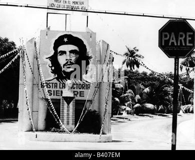 Guevara Serna, Ernesto 'Che', 14.5.1928 - 9.10.1967, Argentinian revolutionary, poster, monument, Cuba, circa 1968, ,