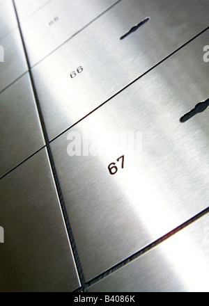 Safe deposit boxes - Stock Photo