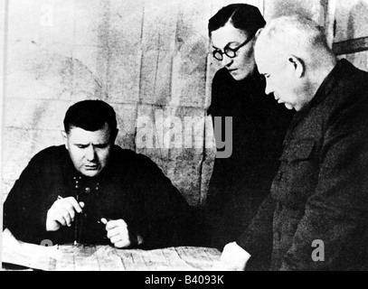 events, Second World War / WW II, Russia, Stalingrad, 20.11.1942 - 2.2.1943, briefing at the headquarters of the - Stock Photo