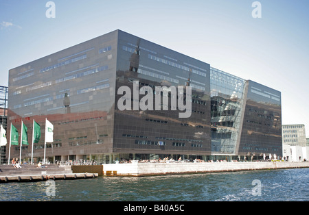 The Black Diamond new extension to the Royal Danish Library designed by Schmidt Hammer Lassen - Stock Photo