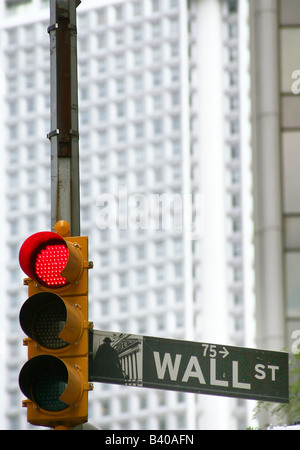 United States, New York, Wall Street, stock exchange - Stock Photo