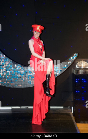 Waxwork model of Kylie Minogue at Madame Tussauds London England UK - Stock Photo