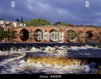 dh Devorgilla bridge River Nith DUMFRIES GALLOWAY Scottish Devorgillas old Multiple stone arch bridges scotland rivers