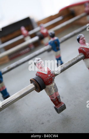 old retro table football game - Stock Photo