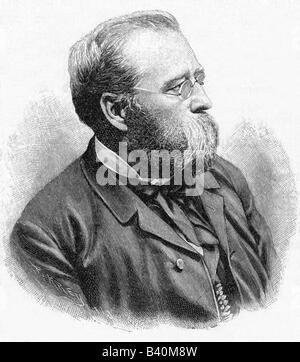 Diez, Wilhelm von, 17.1.1839 - 25.2.1907, German painter, professor at the Munich academy, portrait, wood engraving, - Stock Photo
