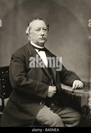 Fontane, Theodor, 30.12.1819 - 20.9.1898, German author / writer, poet, half length, sitting, 19th century, - Stock Photo