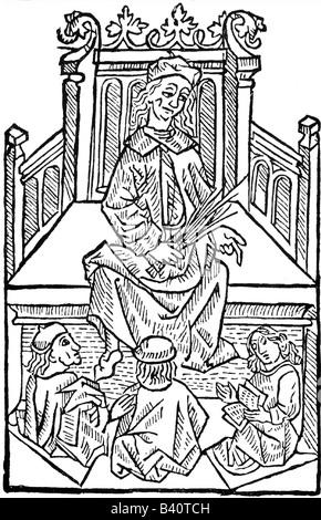 Albertus Magnus, von Bollstadt Count, circa 1193 - 15.11.1280, German theologist and philosopher, full length, teaching, - Stock Photo