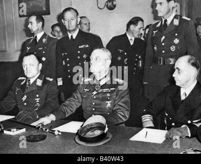 events, Second World War / WWII, Germany, end of war, capitulation of the German Wehrmacht in Berlin Karlshorst, - Stock Photo