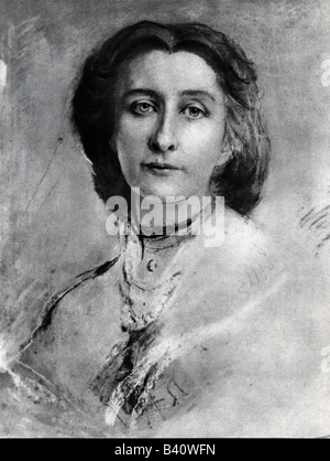 Wagner, Cosima, 24.12.1837 - 1.4.1930, German festival manager, portrait, after painting by Franz von Lenbach, , - Stock Photo