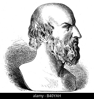Aeschylus, 525 - 456 BC, Greek author / writer (poet), portrait, side view, wood engraving after ancient bust, , - Stock Photo
